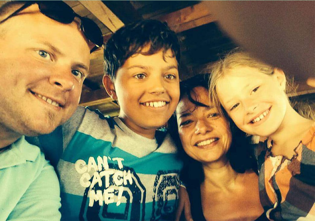 Traurredner Uwe Klink und seine Familie